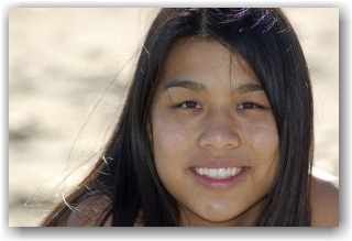 Native Girl Smiling