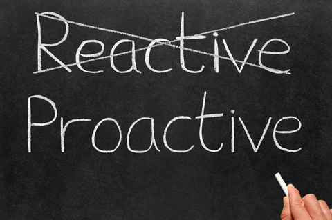 reactive vs proactive Whereas, the reactive leader is focused on finding and fixing problems by him or herself take action: complete this reactive-proactive self-assessment: using the scale, decide where you lay on the continuum.